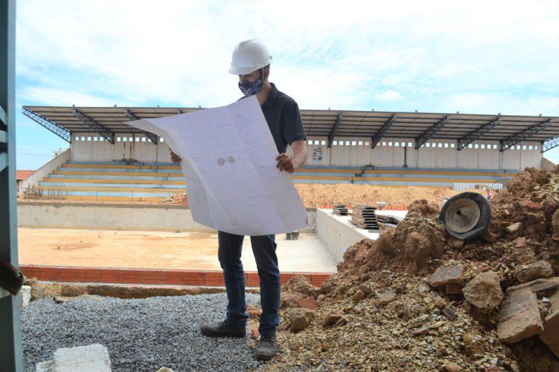 Luan Vieira Moraes, engenheiro responsável pela obra de reconstrução do Complexo Aquático Dr. Samuel de Castro Neves