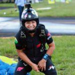 Isabella Castro, paraquedista recordista mundial de saltos durante o dia