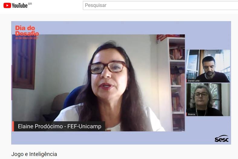 Elaine Prodócimo, palestra 'Jogo e Inteligência' - Projeto Esporte Educacional
