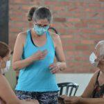 Rita Fenalti, professora de educação física responsável pelo projeto de ginástica cerebral do PAM